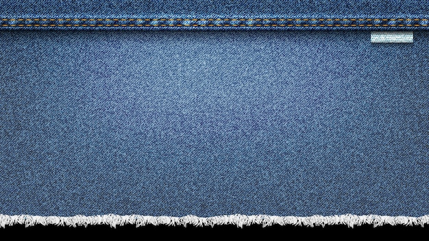 Fundo de textura realista de jeans, azul jeans