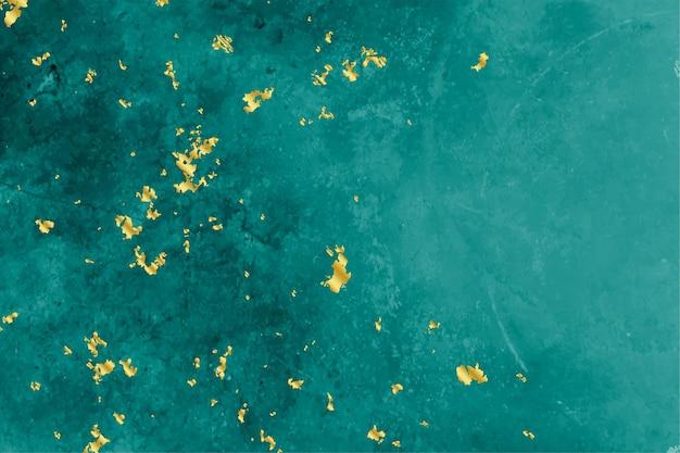 Fundo de textura turquesa e folha de ouro