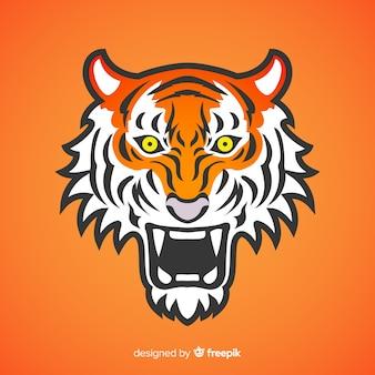 Fundo de tigre assustador