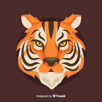 Fundo de tigre bravo