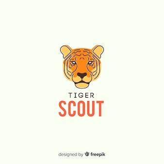 Fundo de tigre de escoteiro