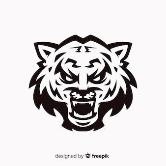 Fundo de tigre rugindo
