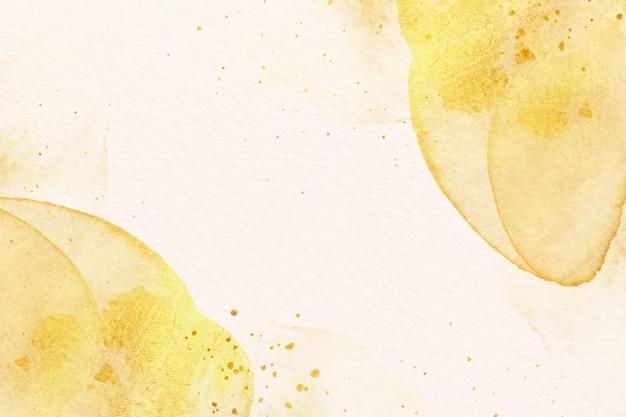 Fundo de tinta aquarela dourada