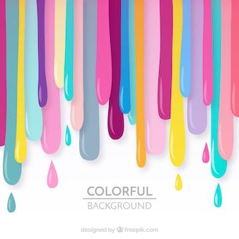 Fundo de tinta colorido