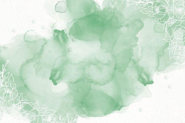 Fundo de tinta de álcool verde