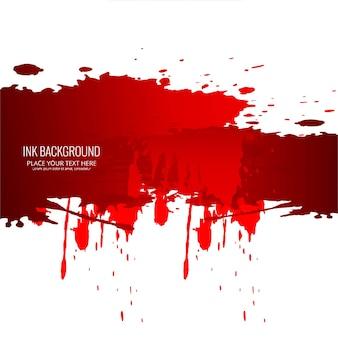 Fundo de tinta vermelha moderna