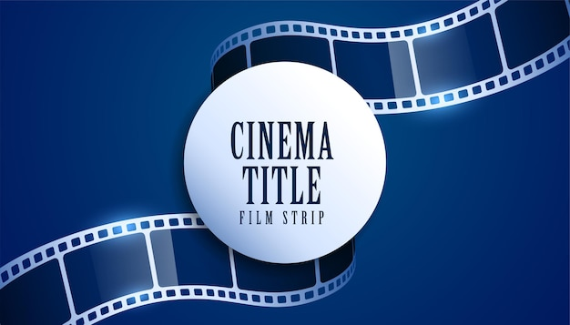 Fundo de título de filme de tira de filme realista