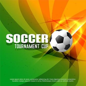 Fundo de torneio de campeonato de futebol brilhante abstrato