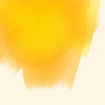 Fundo de traçado de pincel amarelo tinta aquarela