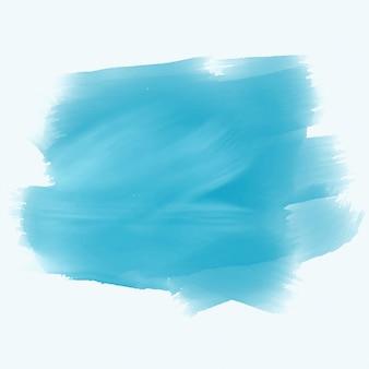 Fundo de traçado de pincel aquarela turquesa