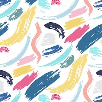 Fundo de traçado de pincel padrão abstrato.