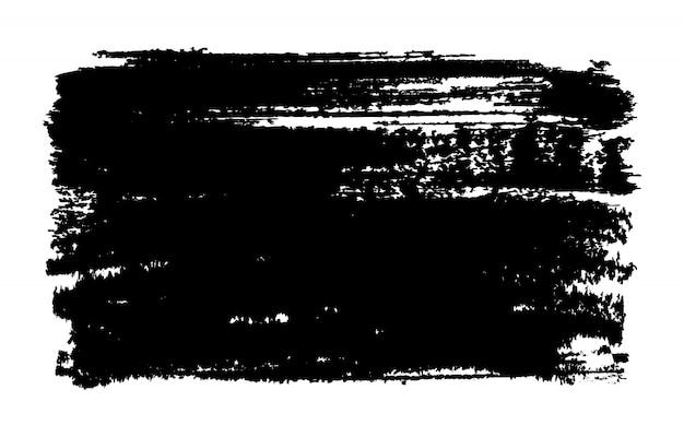 Fundo de traçado de pincel preto