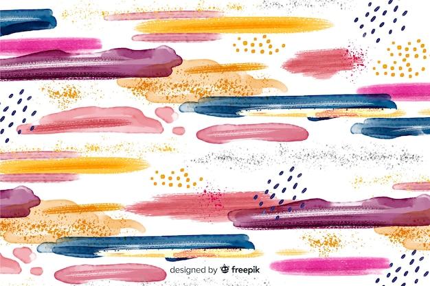 Fundo de traçados de pincel colorido abstrato