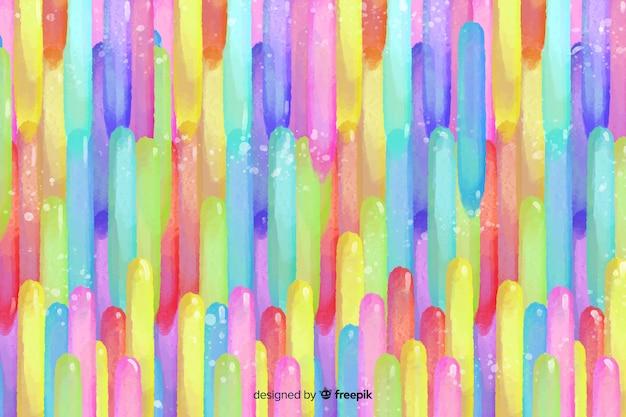 Fundo de traçados de pincel colorido em aquarela