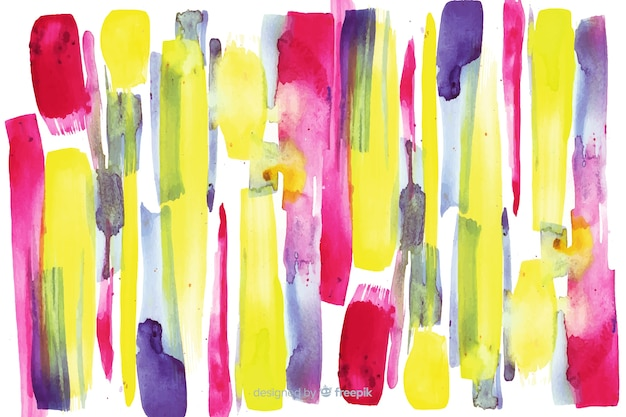 Fundo de traçados de pincel colorido