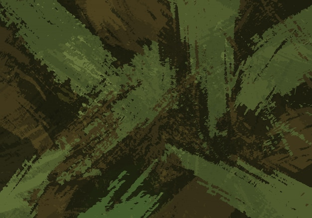 Fundo de traçados de pincel de camuflagem Vetor Premium