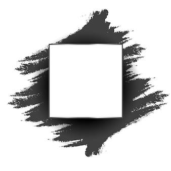 Fundo de traço de tinta preta grunge