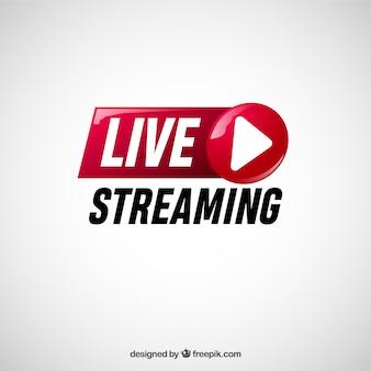 Fundo de transmissão ao vivo