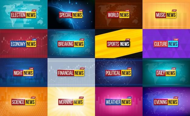 Fundo de transmissão de notícias.