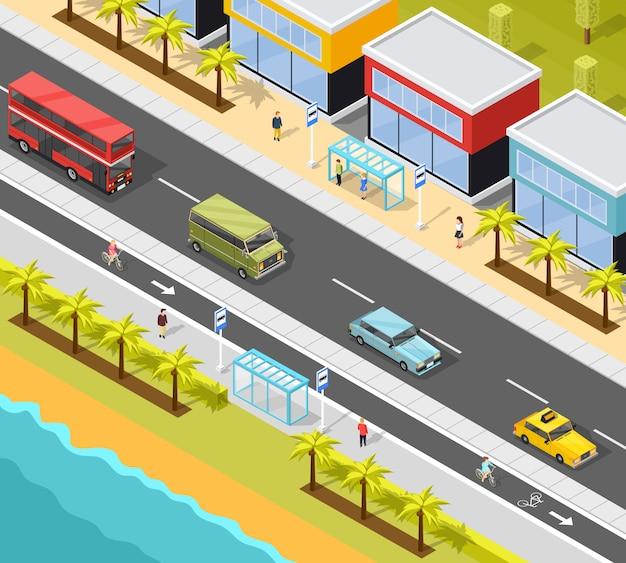 Fundo de transporte de cidade de resort