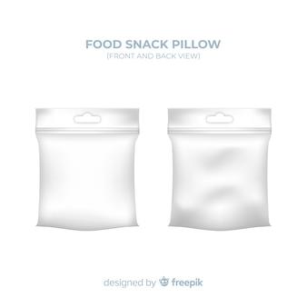 Fundo de travesseiro de lanche de comida