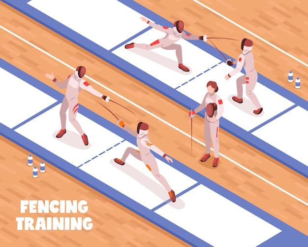 Fundo de treinamento de salão de esgrima