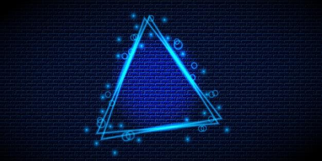 Fundo de triângulo de luz de néon retrô