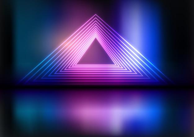 Fundo de triângulo de néon