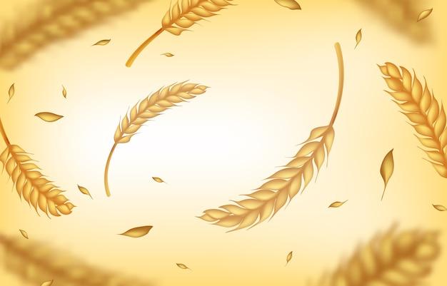Fundo de trigo realista