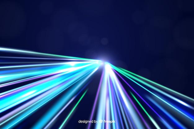 Fundo de trilha de luz de néon colorido