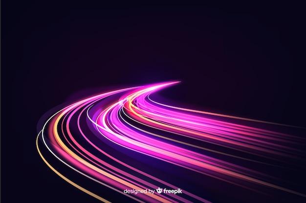 Fundo de trilha de luz de velocidade