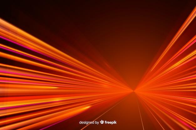 Fundo de trilha de luzes de alta velocidade