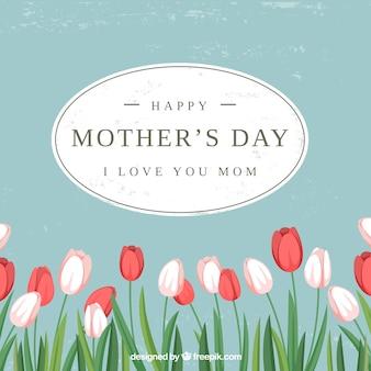 Fundo de tulipas do dia das mães