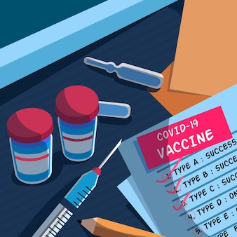 Fundo de vacina de coronavírus desenhado