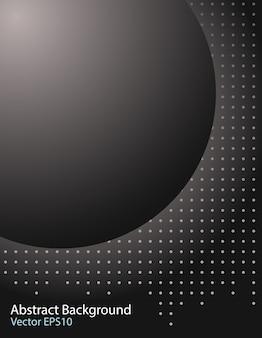 Fundo de vector de esfera escura