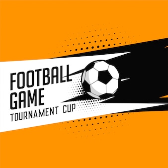 Fundo de vector de jogo de torneio de futebol de futebol