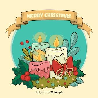Fundo de vela de natal
