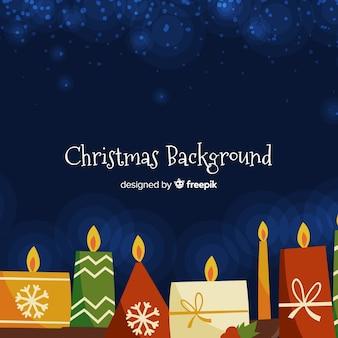 Fundo de velas de natal