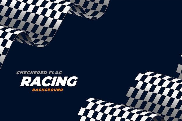 Fundo de velocidade de bandeira de corrida realista