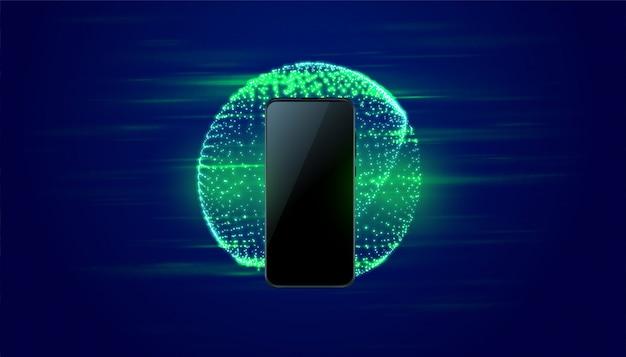 Fundo de velocidade rápida de tecnologia móvel digital