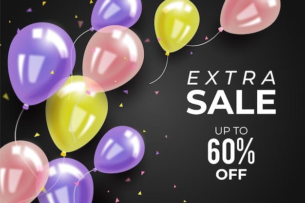 Fundo de venda com balões