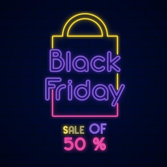 Fundo de venda da black friday