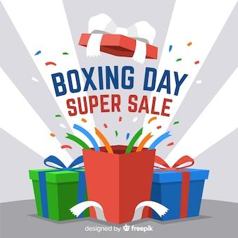 Fundo de venda de boxe plana dia
