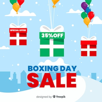 Fundo de venda de dia de boxe de balões