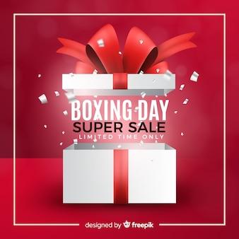 Fundo de venda de dia de boxe realista