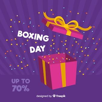 Fundo de venda de dia de boxe