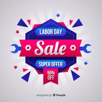 Fundo de venda de dia de trabalho plana