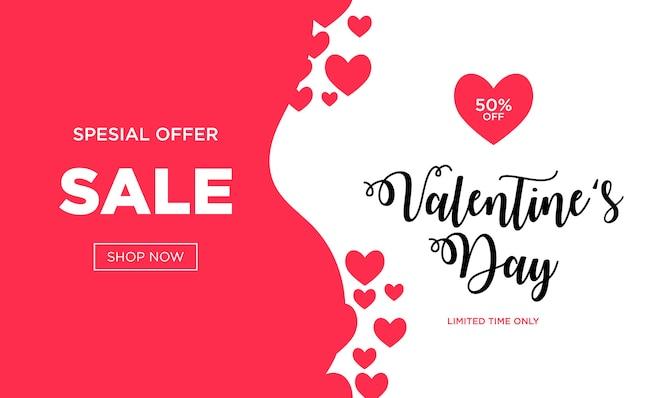 Fundo de venda de dia dos namorados