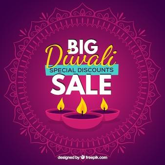 Fundo de venda de diwali grande
