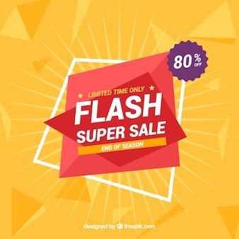 Fundo de venda de flash com estilo de gradiente